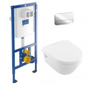Seinä-WC -paketti Villeroy & Boch 3-in-1
